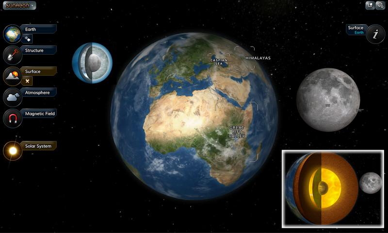 Интерактивная модель солнечной системы