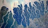 Фото дельты реки Ганг из космоса