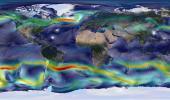 Глобальный ветер  -  вид с космоса. Карта Ветров онлайн